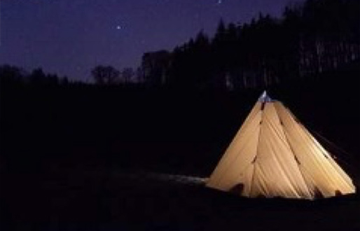 Camp out in your back garden